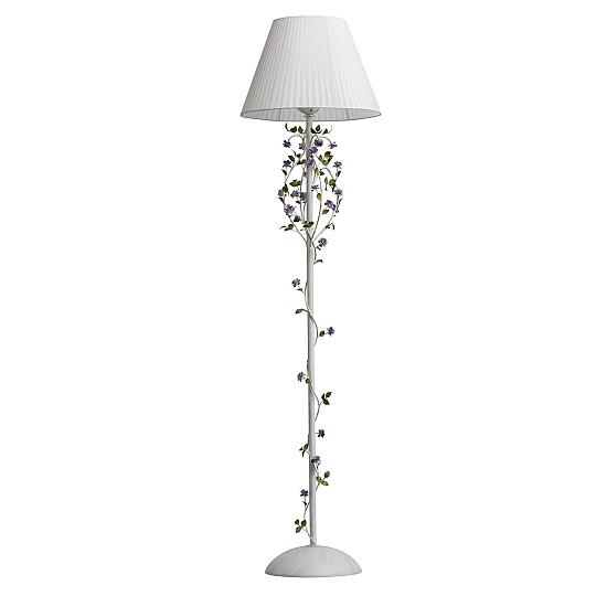 Détails sur Lampadaire Shabby Blanc Tissu 160cm Fleurs Déco Romantique  Lumière Salon