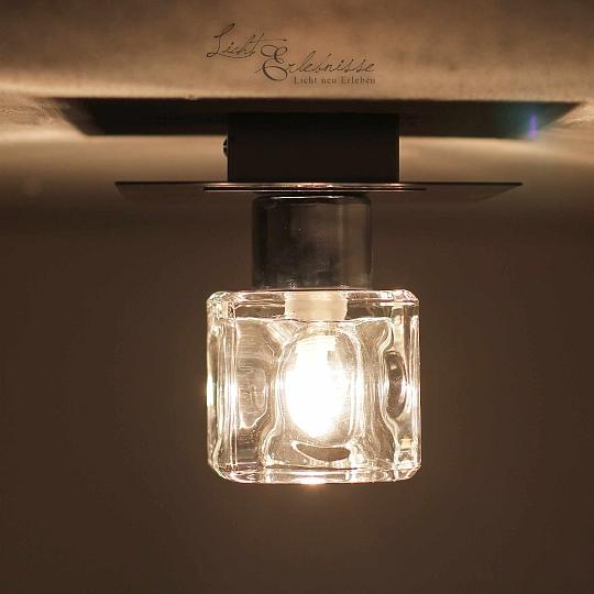 Dettagli su Plafoniera Moderna Schermo di Vetro G9 40w Lampada da Corridoio  Soggiorno