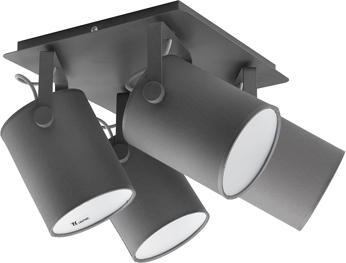 Détails sur Spot de Plafond Gris Blanc 4-flmg Carré Couloir Salon Lampe  Moderne Se Détendre
