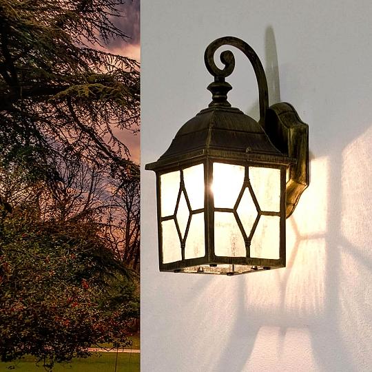 Lampada da parete in acciaio inox parete da giardino Lampada aussenwandleuchte Cortile Luce Esterno