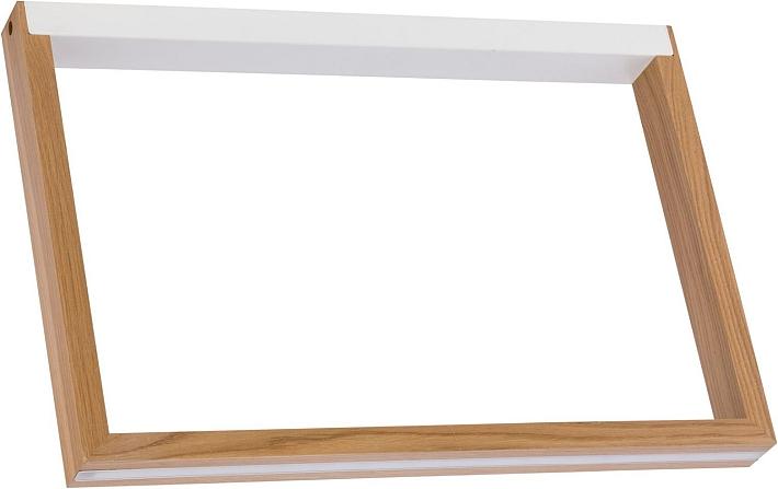 Deckenleuchte Eichen Optik Led Aus Geoltem Holz Led Wohnzimmer Lampe Flach