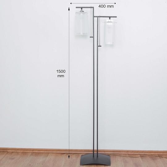elegante moderne stehlampe in schwarz 2x e27 stand standleuchte lampe esstisch ebay