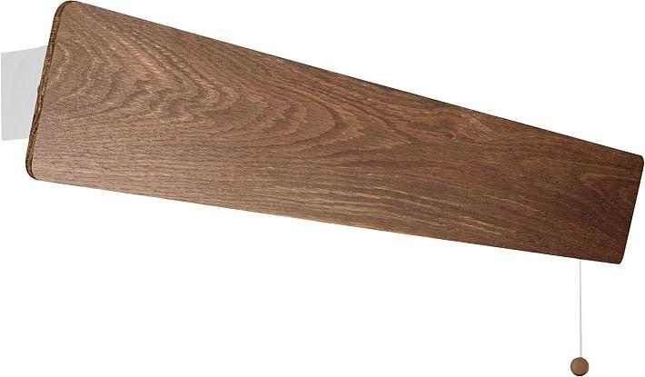 Led applique da parete lampada camera letto legno interruttore