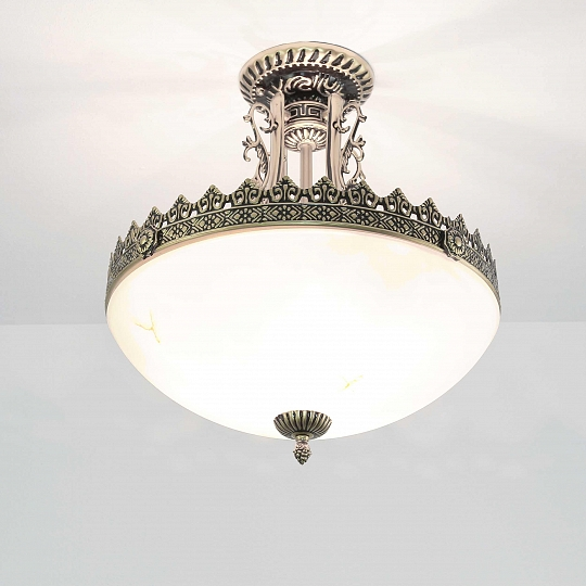 Deckenlampe Jugendstil Messing Deckenleuchte Wohnzimmer 3