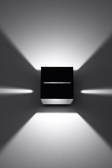 applique murale noir aluminium g9 lampe int rieure magasin. Black Bedroom Furniture Sets. Home Design Ideas