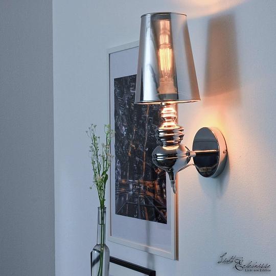 Design XXL Wandleuchte Innen Chrom Wandlampe Schirm Für