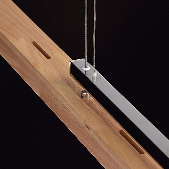 lange led h ngelampe aus holz esstisch modernes design xxl l 122cm pendelleuchte 1001. Black Bedroom Furniture Sets. Home Design Ideas