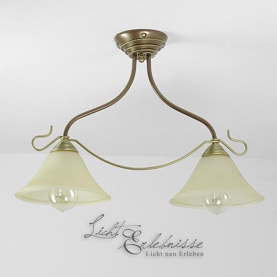 Rustikale Wandleuchte Shabby Braun Beige E14 Lampe Wand: Doppel Deckenleuchte Im Jugendstil LED Geeignet Metall
