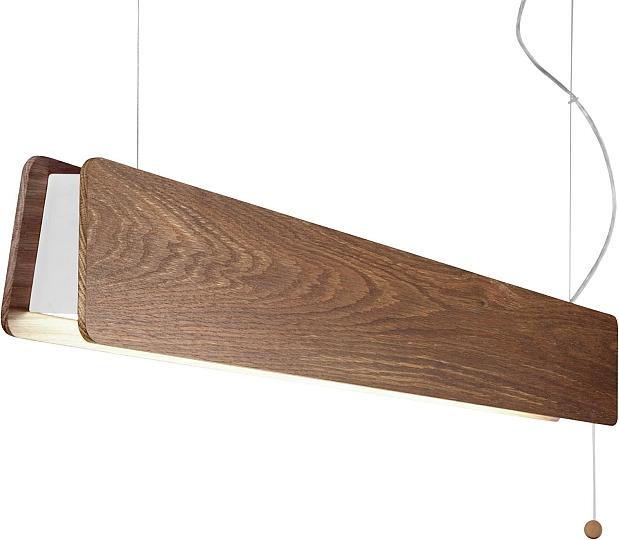 led pendelleuchte h ngelampe holz braun zugschalter blende verstellbar 98cm ebay. Black Bedroom Furniture Sets. Home Design Ideas