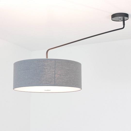 XXL Deckenleuchte Beweglich Stoffschirm Grau Deckenlampe