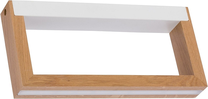 Détails sur Plafonnier LED Bois Véritable 32cm Long Petit Lampe Moderne  Design Salon