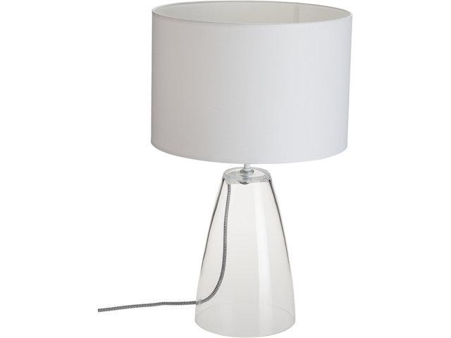 Tischleuchte Nachttischleuchte Touch mit Stoffschirm weiß Leuchte Wohnraum Flur