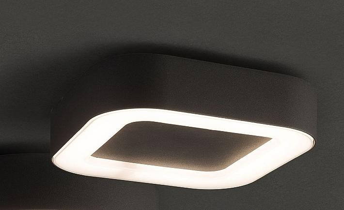 Plafoniere Da Soffitto Moderne : Led esterni plafoniera lampada da soffitto grigio scuro alluminio