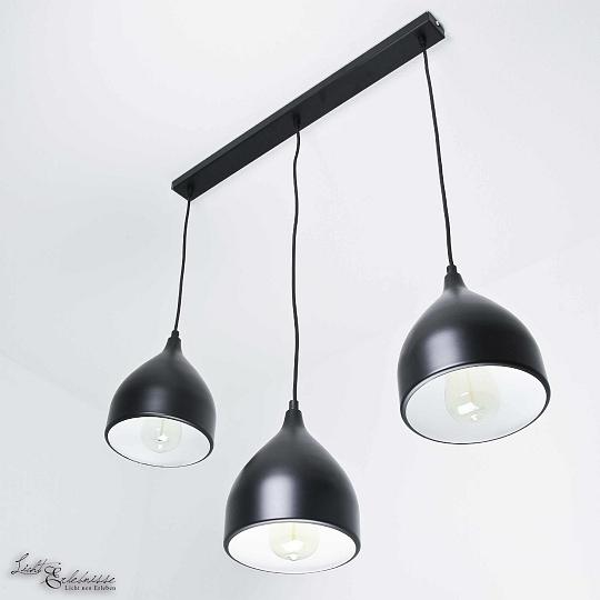 Suspensions Noir Aluminium 3xE27 Luminaire Suspendu à Manger Lampe ...