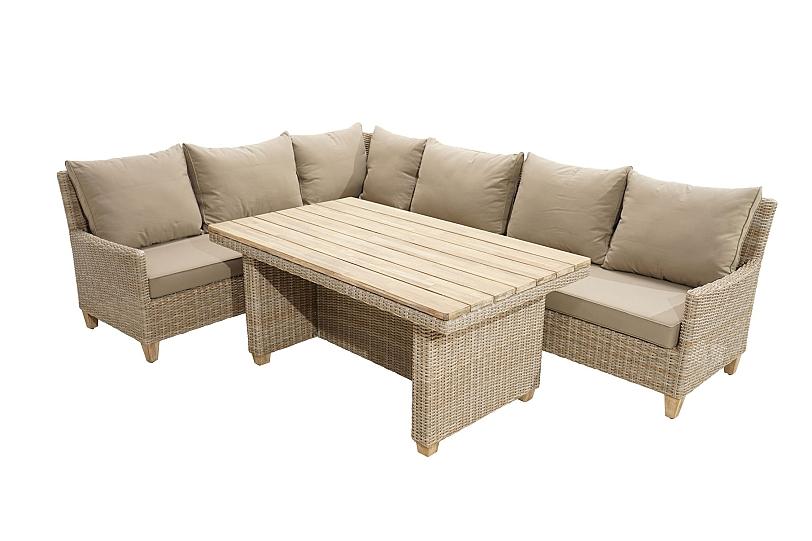 Details zu Premium Garten Lounge Set mit Sitzgruppe Tisch Polster  Polyrattan Möbel CEBU
