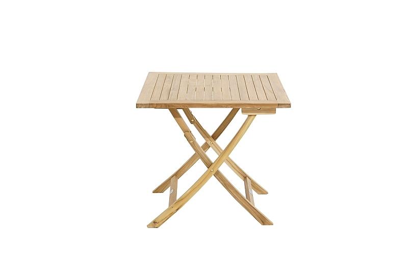 Détails sur Pliant Table de Jardin Ron 80x80 cm Bois Teck Carré Extérieur  Terrasse