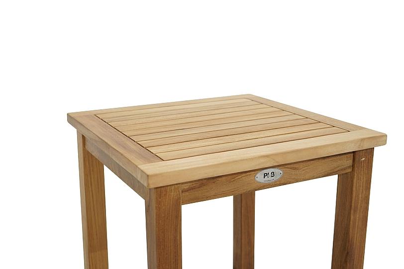 Détails sur Carré Table D\'Appoint Bois Teck 50x50 cm Midwest Jardin  Terrasse Balcon