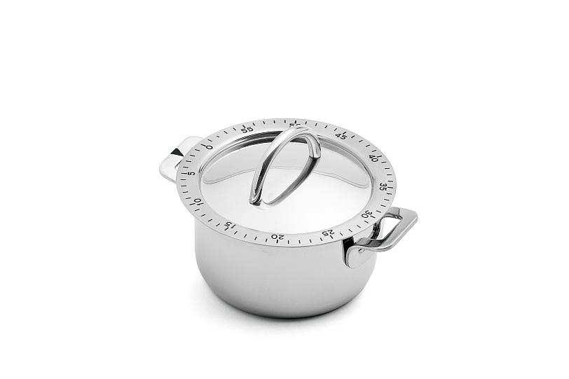design edelstahl kchen, küchenwecker kochtopf design edelstahl küchenuhr küchen timer, Design ideen