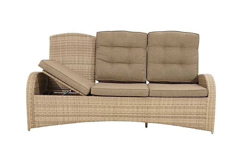 Details About Comfort 3 Seater Adjustable Backrest Polyrattan Garden Lounge Sofa Dining Relax Show Original Title