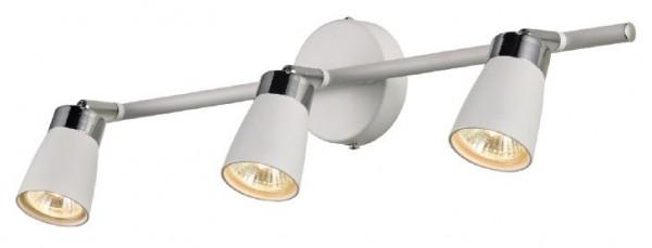Spot Lampe Wand in Weiß Metall 3-flammig GU10 50,5cm lang Strahler Leuchte Flur